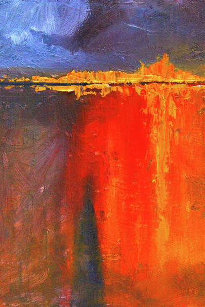 Wall Art - Painting - Molten Abstract by Nancy Merkle