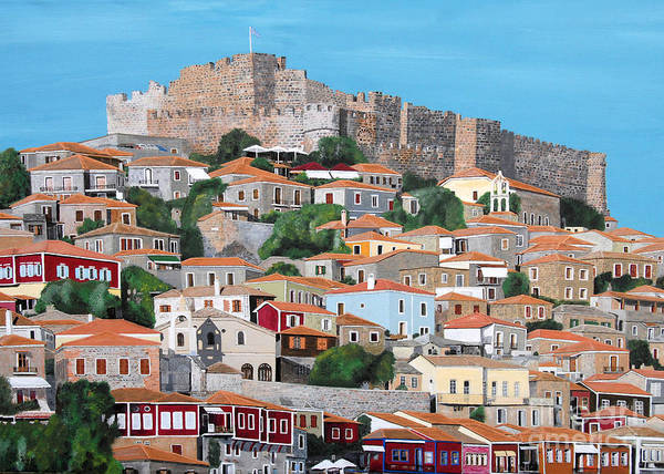 Molyvos Lesvos Greece Art Print