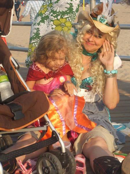 Bernadette Photograph - Mom And Little Mermaid by Bernadette Claffey