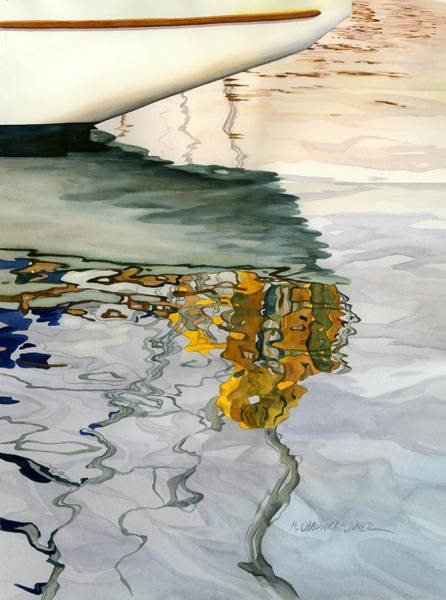 Abstraction Painting - Moment Of Reflection Ix by Marguerite Chadwick-Juner