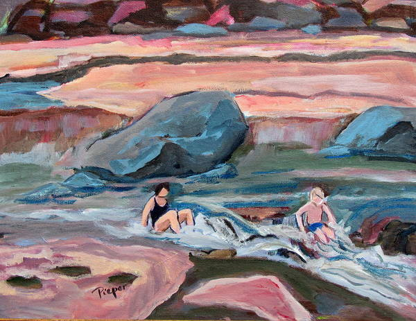 Oak Creek Canyon Painting - Momma At Slide Rock Park Arizona by Betty Pieper