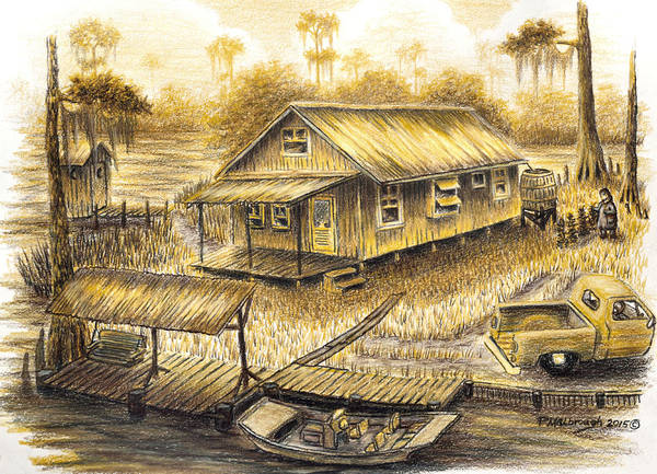 Old Chevy Truck Drawing - Momma's Heavenly Mansion by Peter E Malbrough