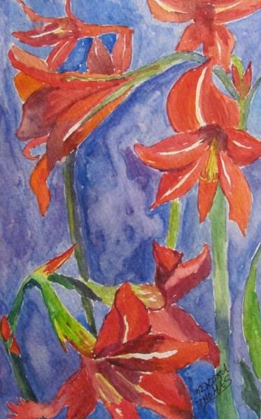 Amaryllis Painting - Mom's Amaryllis by Kendra Thomas