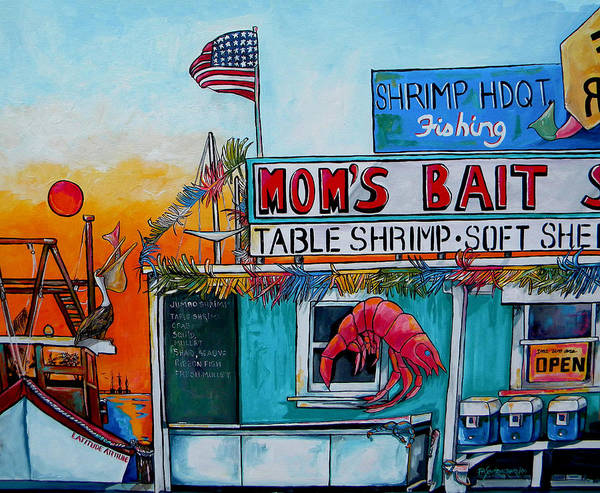 Moms Bait Shop Art Print