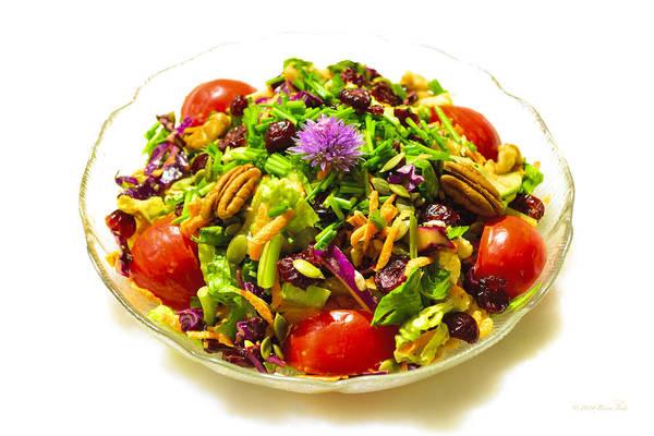Purple Carrot Photograph - Mom's Beautiful Salad by Brian Tada