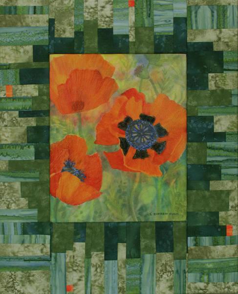 Red Poppy Mixed Media - Mom's Poppies by Lauren Everett Finn