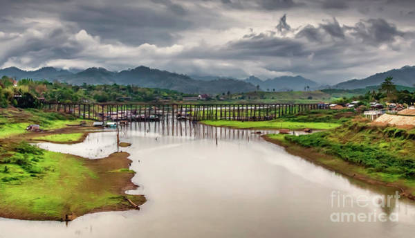Wall Art - Photograph - Mon Bridge Thailand by Adrian Evans