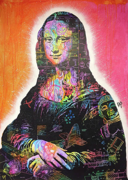 Painting - Mona Lisa Iron Core Variable by Dean Russo Art