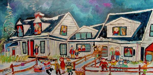 Montreal Canadiens Painting - Mon Village Hudson Winter  by Michael Litvack