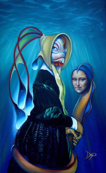 Mona Lisa Wall Art - Painting - Mona Eelsa by Patrick Anthony Pierson