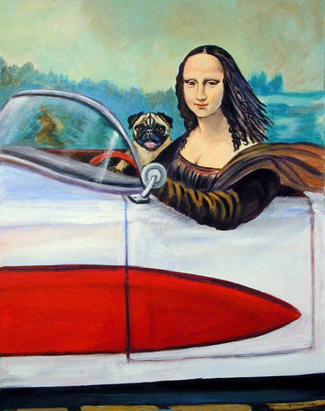 Wall Art - Painting - Mona Likes To Cut Loose On Weekends by Lyn Cook
