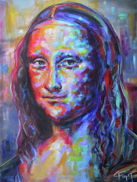 Wall Art - Painting - Mona Lisa by Chris Figat