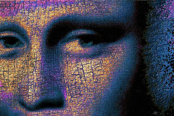 Painting - Mona Lisa Eyes 2 by Tony Rubino