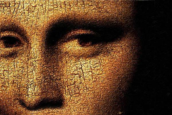 Painting - Mona Lisa Eyes 3 by Tony Rubino