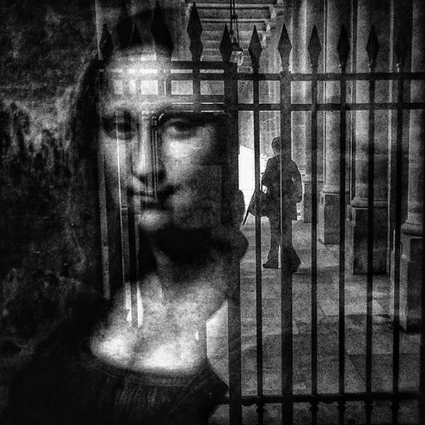 Mona Lisa  #monalisa #cage #art Art Print