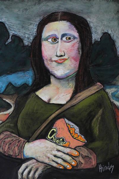 Mona Lisa Wall Art - Pastel - Mona On Break by David Hinds