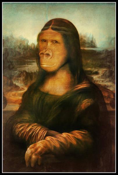Gorilla Painting - Mona Rilla by Gravityx9 Designs