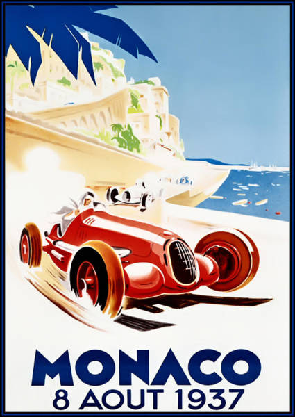 Formula 1 Digital Art - Monaco Grand Prix 1937 by Georgia Fowler