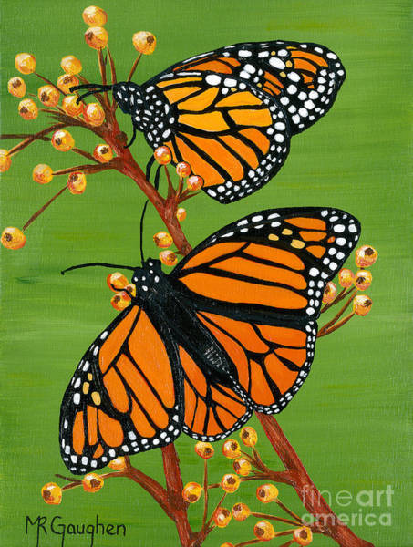 Flutterby Wall Art - Painting - Two To Tango by Marta Robin Gaughen