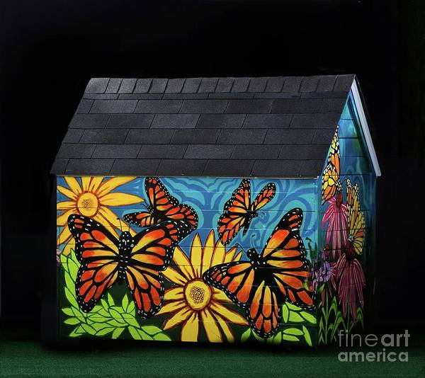 Wall Art - Painting - Monarch Butterflies Take Flight by Genevieve Esson