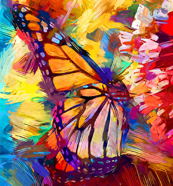 Wall Art - Painting - Monarch Butterfly by Chris Butler