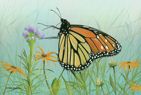 Painting - Monarch Butterfly by Mike Brown