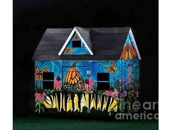 Wall Art - Painting - Monarch Butterlfies Take Flight by Genevieve Esson