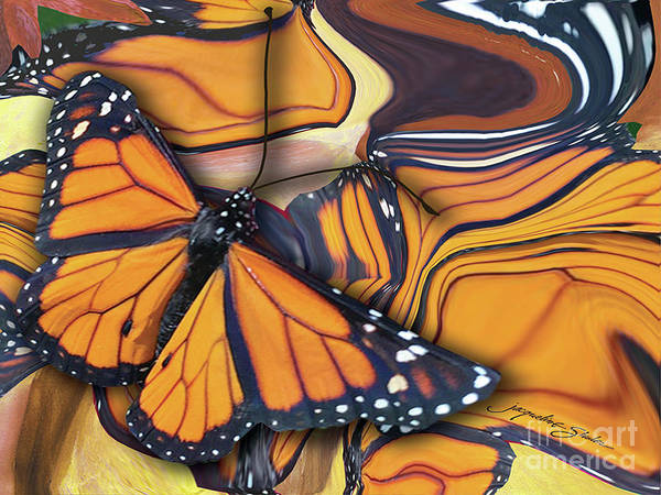 Digital Art - Monarch Flight by Jacqueline Shuler