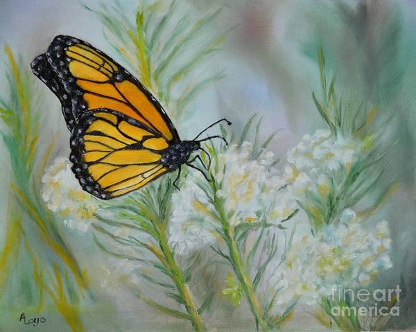 Wall Art - Painting - Monarch In Arizona by Ann Loyd