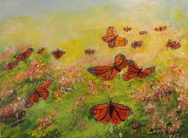 Wall Art - Painting - Monarch's Returning 2 by Rich Mason