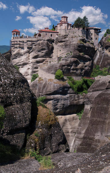 Wall Art - Photograph - Monastery In Meteora by Jaroslaw Blaminsky