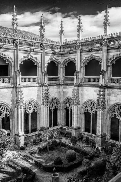 Cloister Photograph - Monastery Toledo Spain Bw by Joan Carroll
