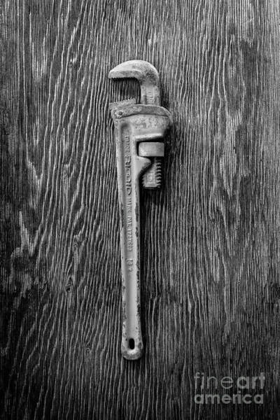Wall Art - Photograph - Moncky Wrench Bw by YoPedro