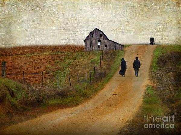 Amish Wall Art - Photograph - Monday Evening by AJ Yoder