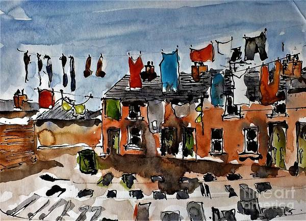 Painting - F 905 Monday Morning by Val Byrne