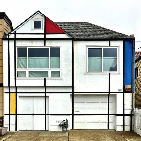 Wall Art - Photograph - Mondrian House by Julie Gebhardt