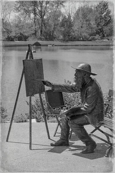 Photograph - Monet In The Garden by Teresa Wilson