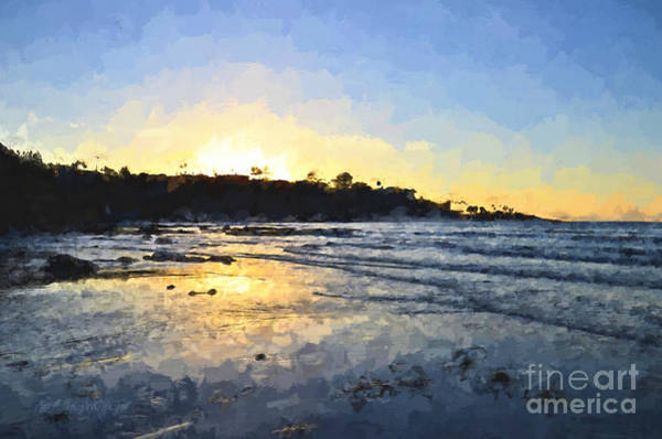 Photograph - Monet Sunset At La Jolla Shores by Sharon Tate Soberon