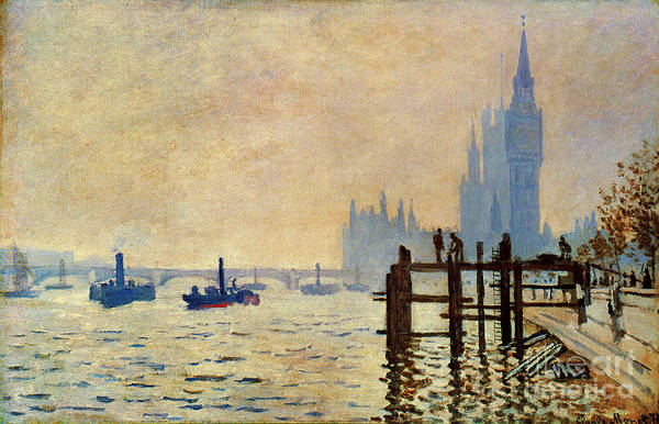 Photograph - Monet: Thames, 1871 by Granger