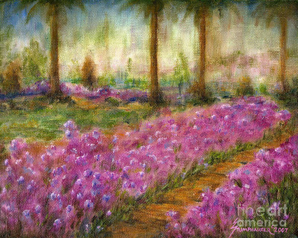 Wall Art - Painting - Monet's Garden In Cannes by Jerome Stumphauzer