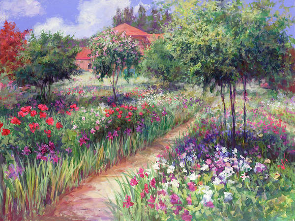 Wall Art - Painting - Monet's Garden  by Laurie Snow Hein