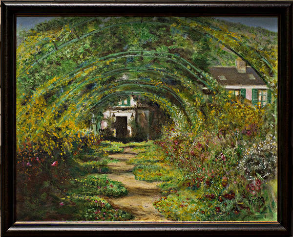 Painting - Monet's Garden Madness by Kathy Knopp