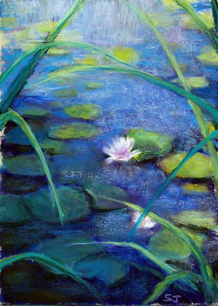 Pastel - Monets Garden by Susan Jenkins