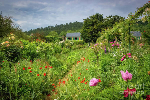 Claude Monet Photograph - Monet's Lush Cottage Garden, Giverny by Liesl Walsh
