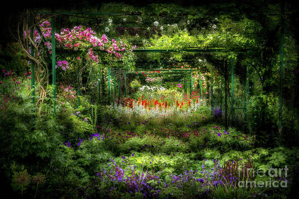 Claude Monet Photograph - Monet's Lush Trellis Garden In Giverny, France by Liesl Walsh