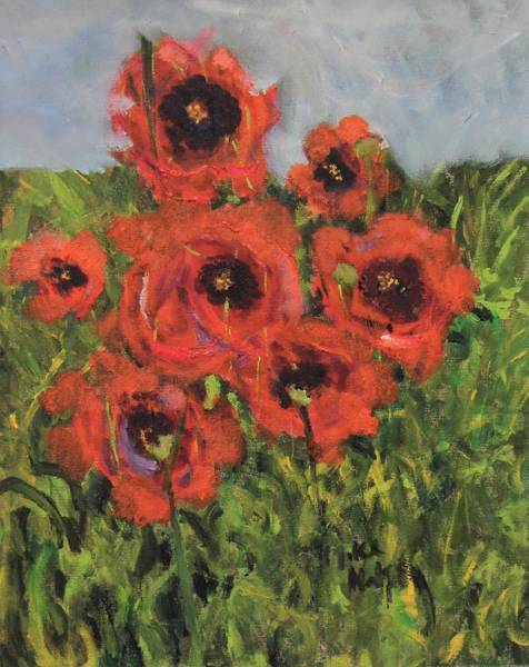Painting - Monet's Poppies by Michael Helfen
