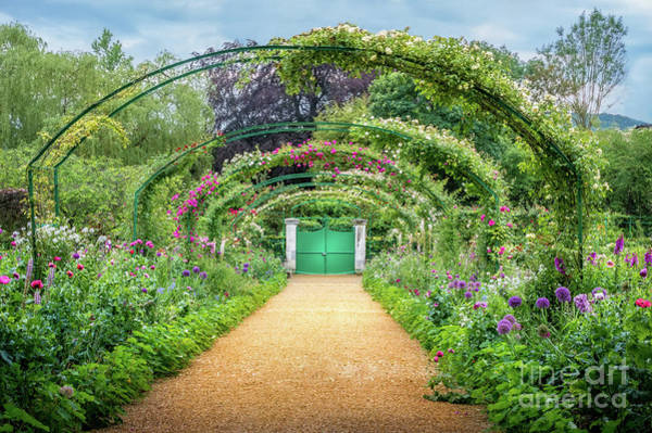 Claude Monet Photograph - Monet's Rose Arches At Giverny 2 by Liesl Walsh