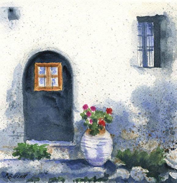 Greece Painting - Monevasia Doorway by Marsha Elliott