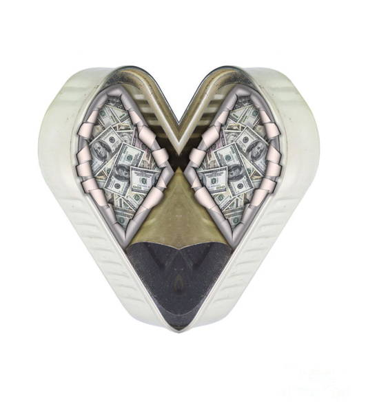 Exhaust Digital Art - Money And Heart by Michal Boubin