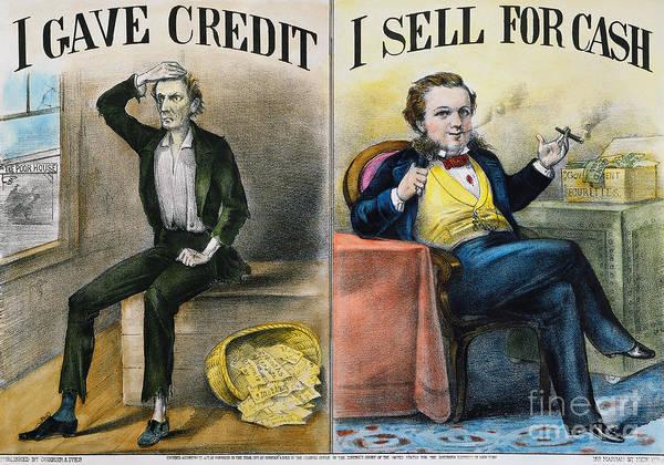 Painting - Money Lending, 1870 by Granger